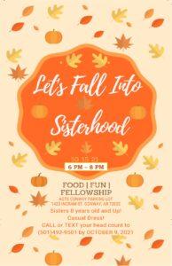Fall Into Sisterhood Flyer Oct 2021